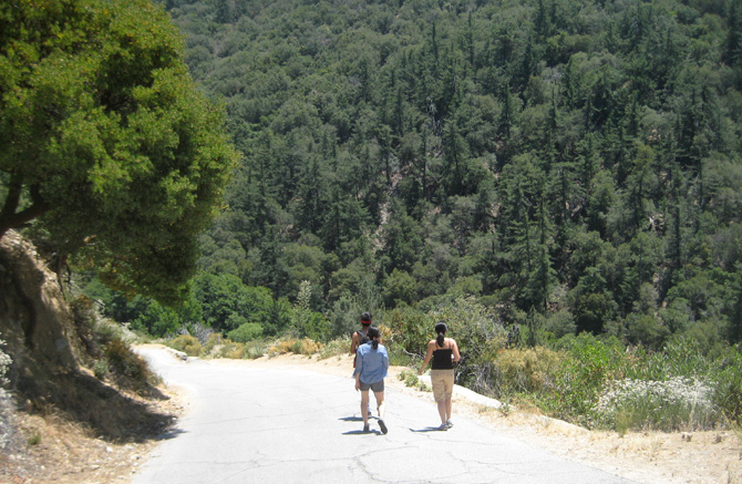 Hiking outside of Los Angeles with Mung, Julie, and Mel
